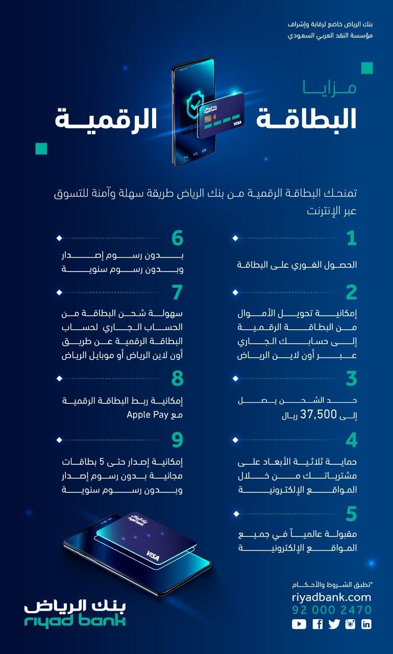 البطاقة الرقمية بنك الرياض