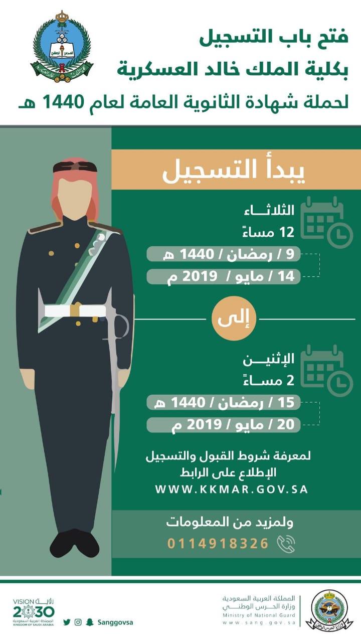 شروط كلية الملك خالد العسكرية