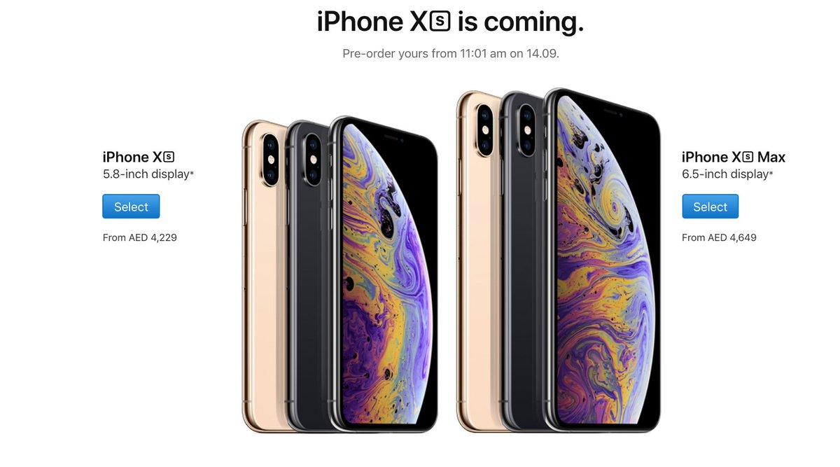 سعر أيفون xs max في السعودية
