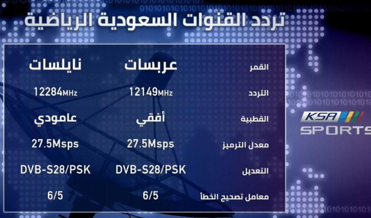 تردد قناة السعودية الرياضية KSA Sports 1 HD